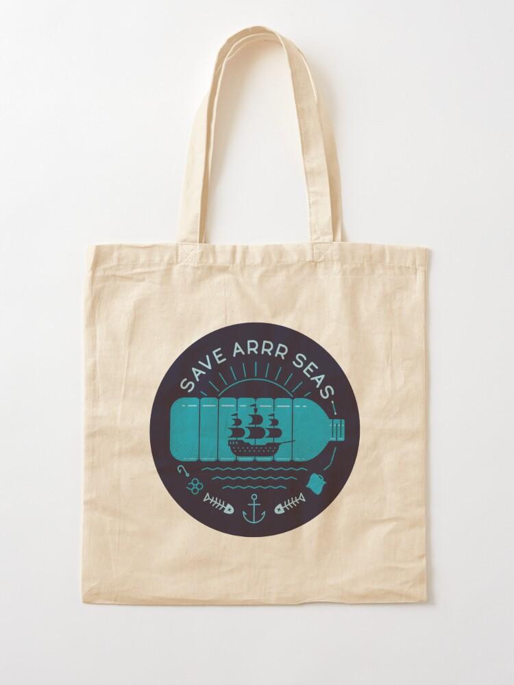 Alternate view of Save Arrr Seas Tote Bag