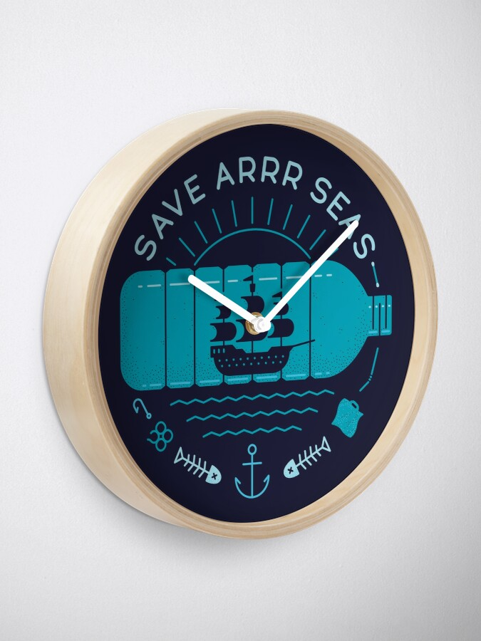 Alternate view of Save Arrr Seas Clock