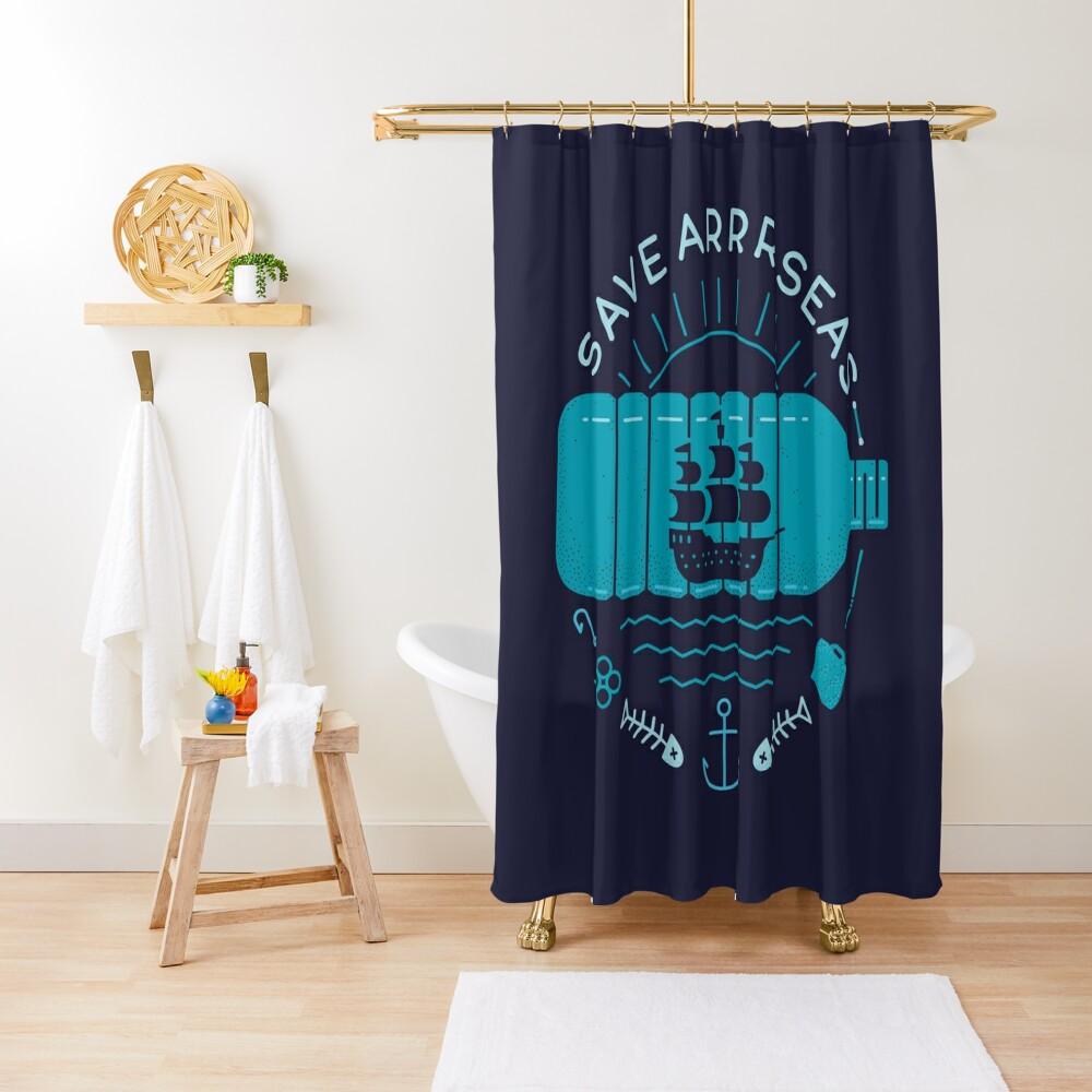 Save Arrr Seas Shower Curtain