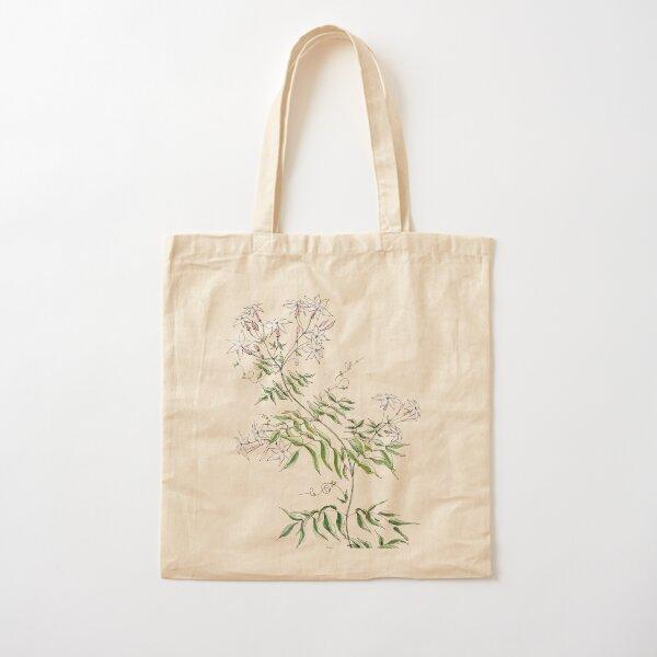 Jasmine Flowers, Illustration Cotton Tote Bag
