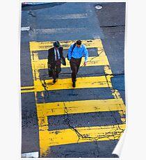 San Francisco crosswalk Poster