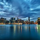 NYC skyline just after sunset by Flux Photography