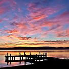 Squid's Ink Sunset Panorama by Liz Percival
