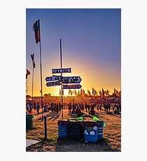 Lost at the Glastonbury Festival 2 Photographic Print