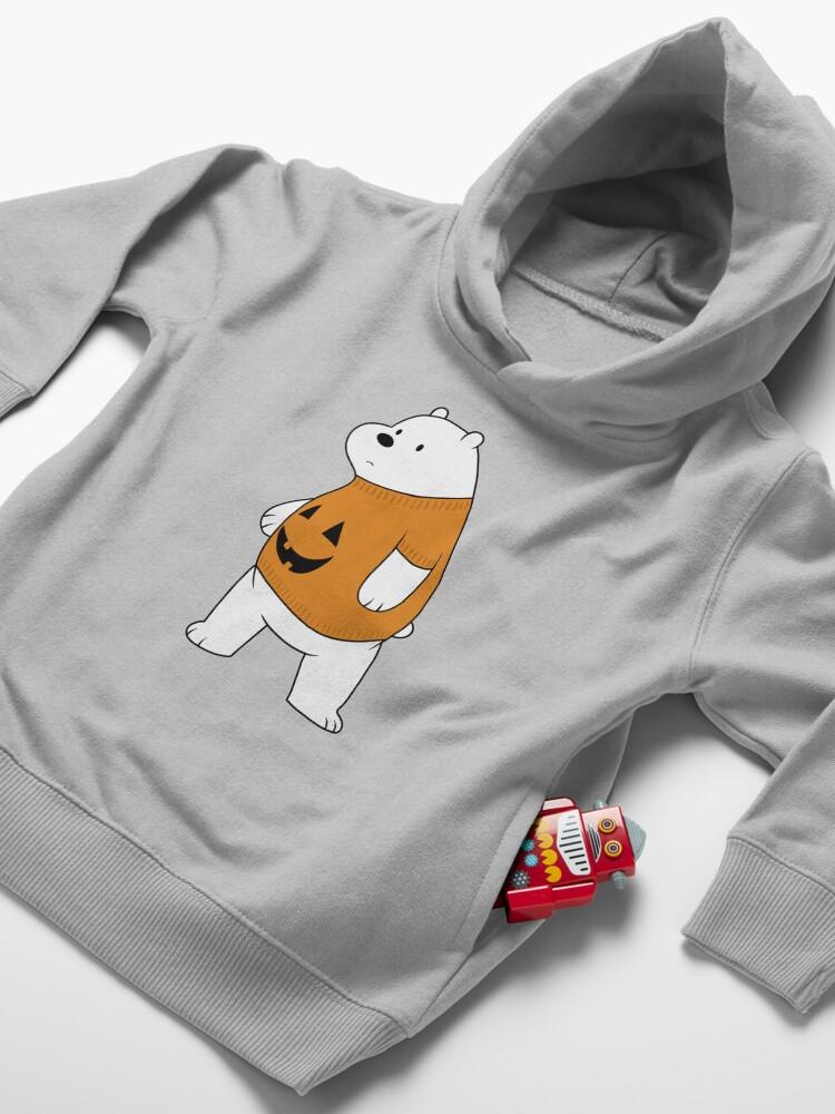 Alternate view of We Bare Bears - Ice Bear - Halloween Toddler Pullover Hoodie