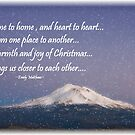 ~ Mount Shasta Christmas Card ~ by WesternDreamer