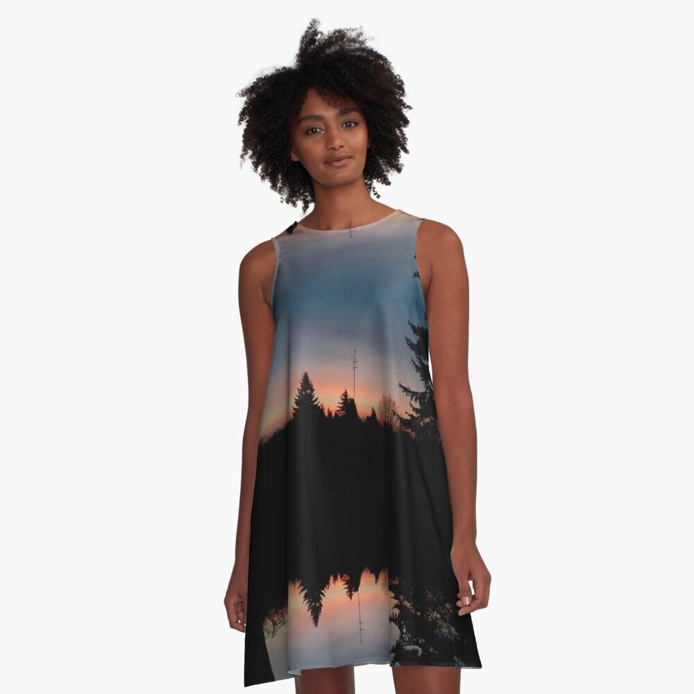 Sonnenhorizont Spiegelung Heller A-Linien Kleid