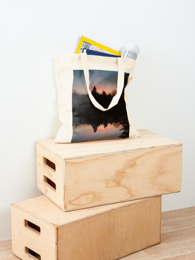 Alternative Ansicht von Sonnenhorizont Spiegelung Heller Stofftasche
