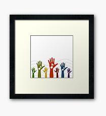 Hand music Framed Print