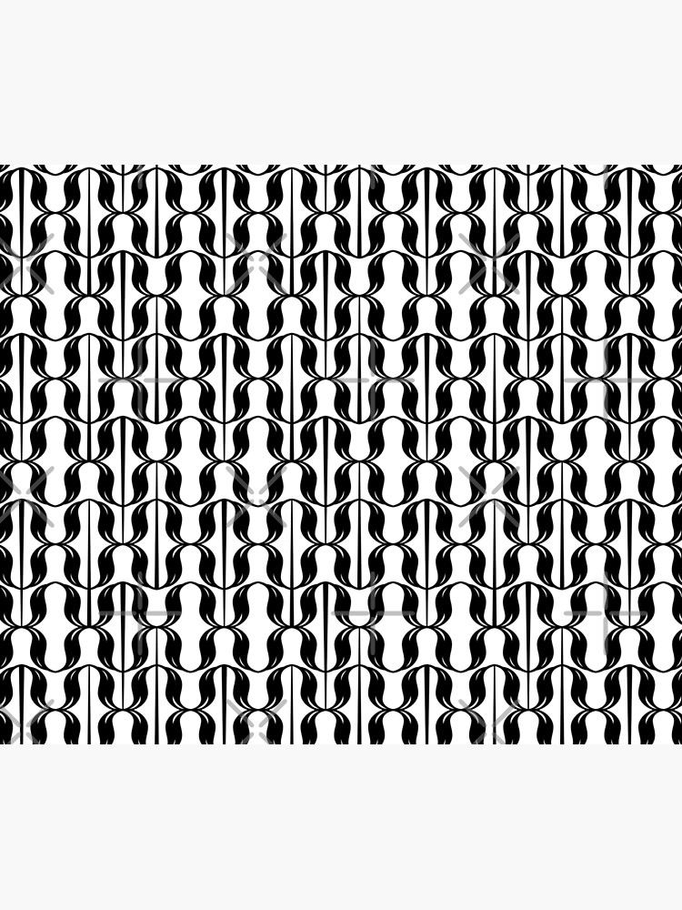 black and white typographical pattern by nobelbunt