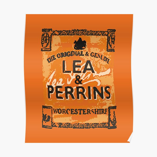 Lea & Perrins Worcestershire Sauce Label  Poster