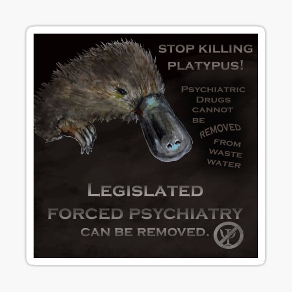 Stop killing Platypus Sticker