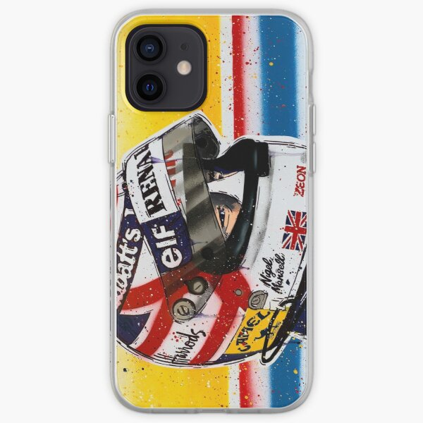 Nigel Mansell - Williams F1 graffiti painting by DRAutoArt iPhone Soft Case