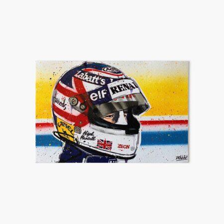 Nigel Mansell - Williams F1 graffiti painting by DRAutoArt Art Board Print