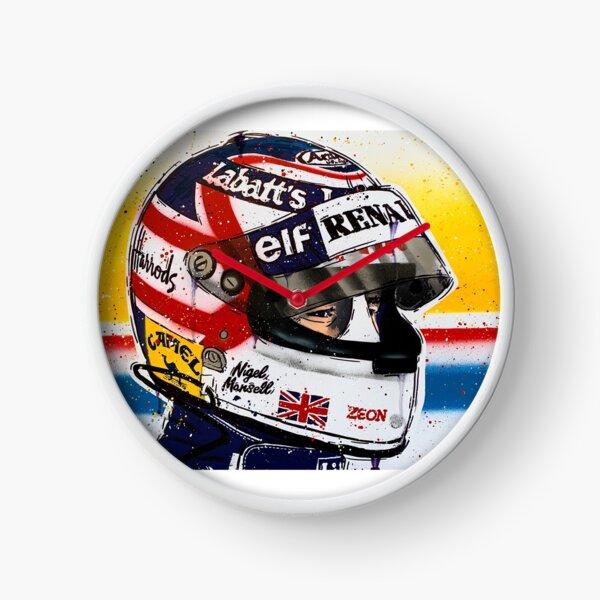 Nigel Mansell - Williams F1 graffiti painting by DRAutoArt Clock