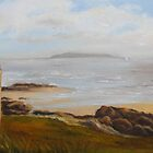 View of Lambay by Geraldine M Leahy