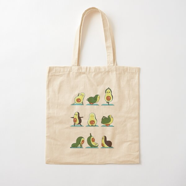 Avocado Yoga Cotton Tote Bag