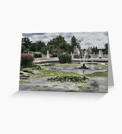 Italian Garden, Hyde Park. Greeting Card