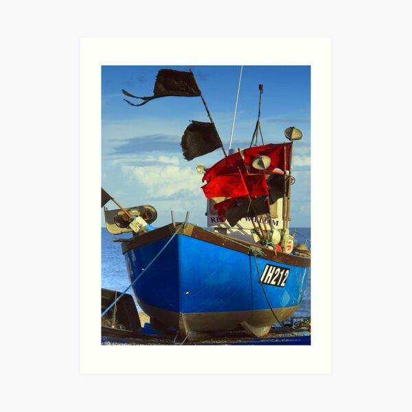 Aldeburgh fishing fleet return Art Print