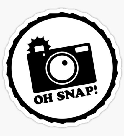 Oh Snap! (Negative) Sticker