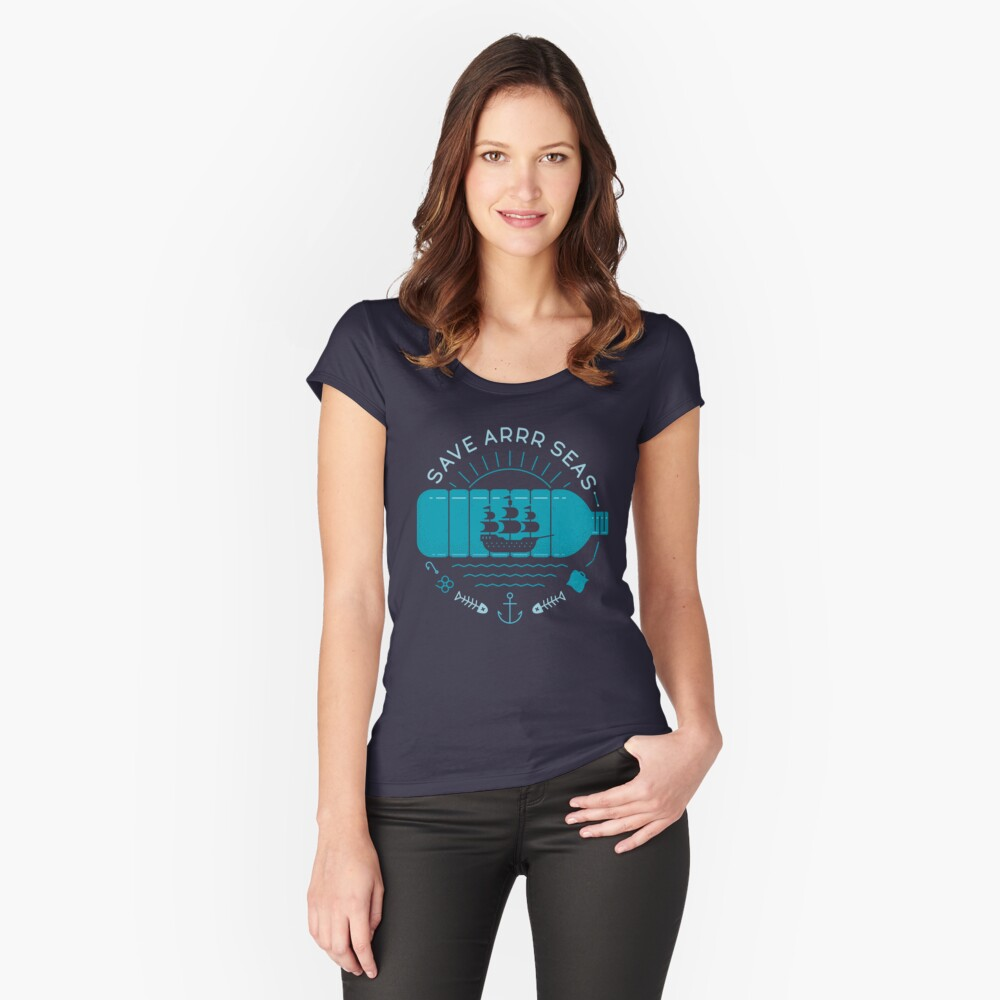 Save Arrr Seas Fitted Scoop T-Shirt