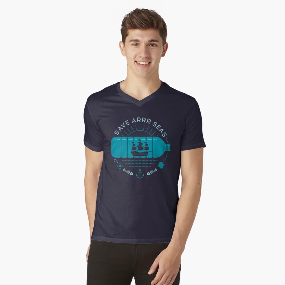 Save Arrr Seas V-Neck T-Shirt