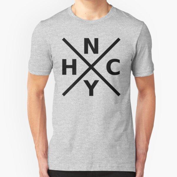 NYHC - New York Hardcore Logo Schwarz Schriftart Slim Fit T-Shirt