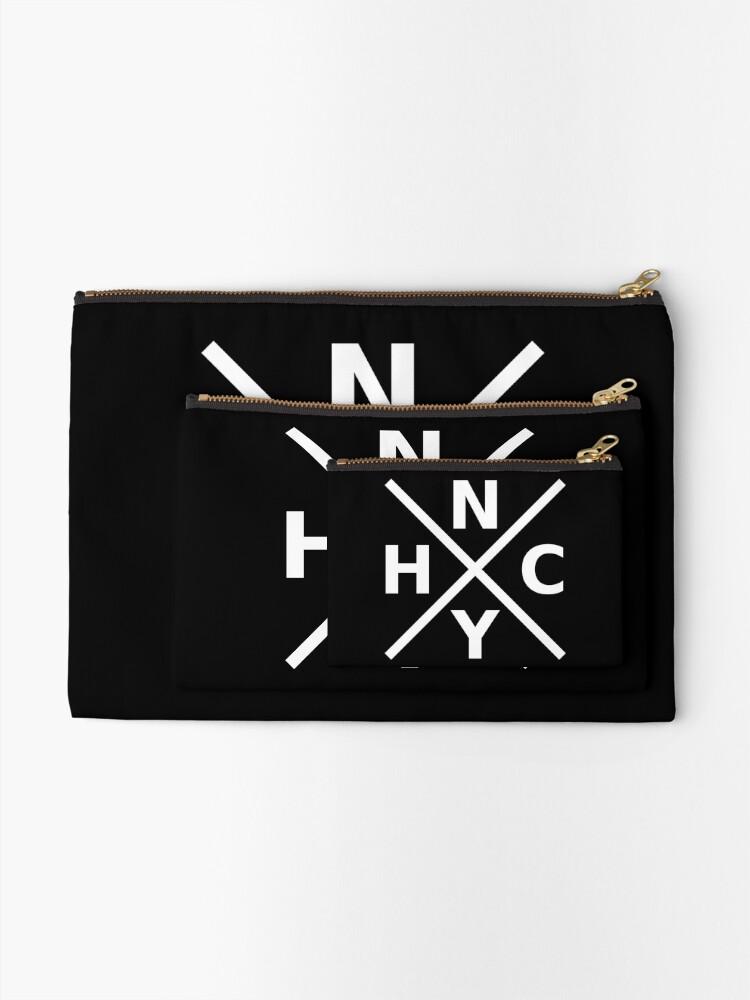 Alternate view of NYHC - New York Hardcore Logo White Font Zipper Pouch