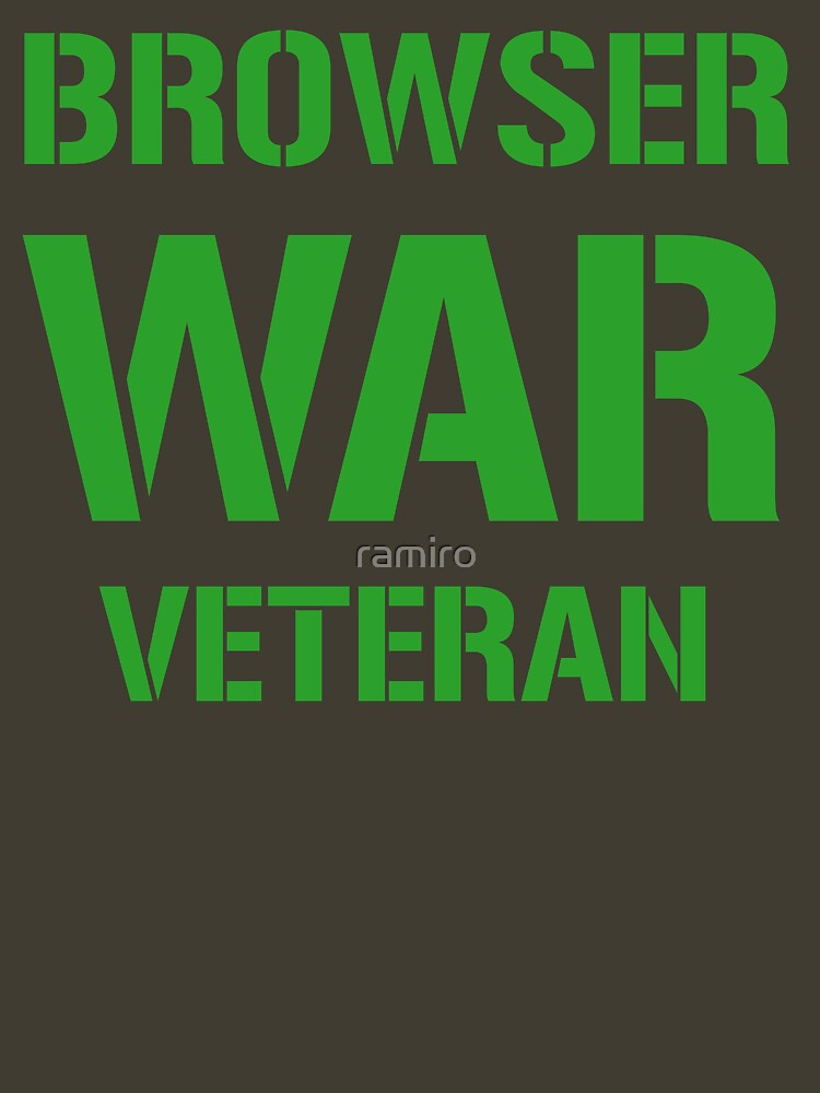 BROWSER WAR VETERAN - Green on Army Design for Web Developers by ramiro