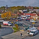Busy Boulevard in Queens - New York by Jack McCabe