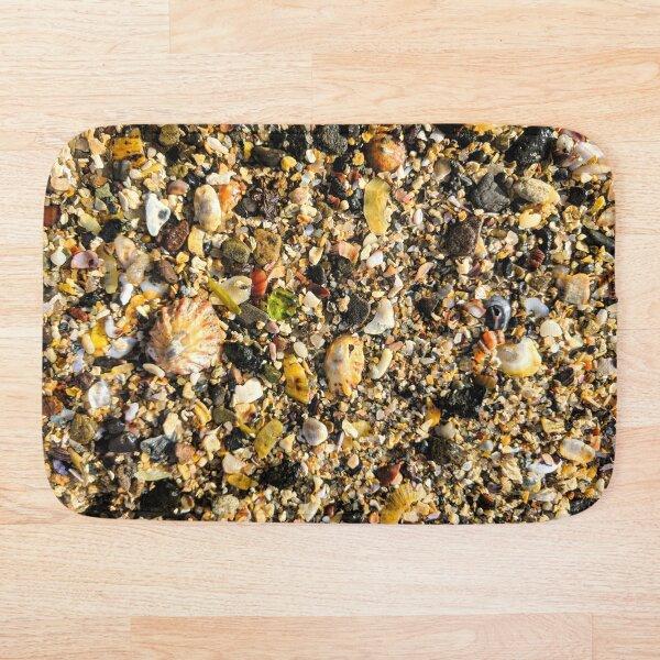 Green Sea Glass Northumberland Beach Sand Bath Mat