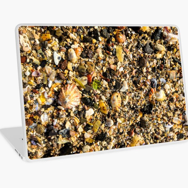 Green Sea Glass Northumberland Beach Sand Laptop Skin