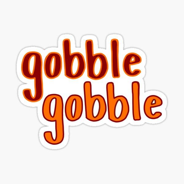 Gobble Gobble Logo Sticker
