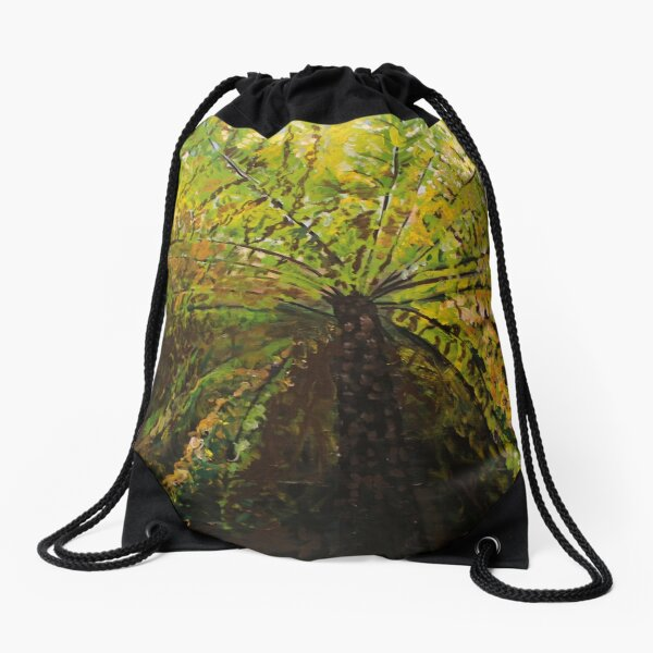 Fern Tree Drawstring Bag