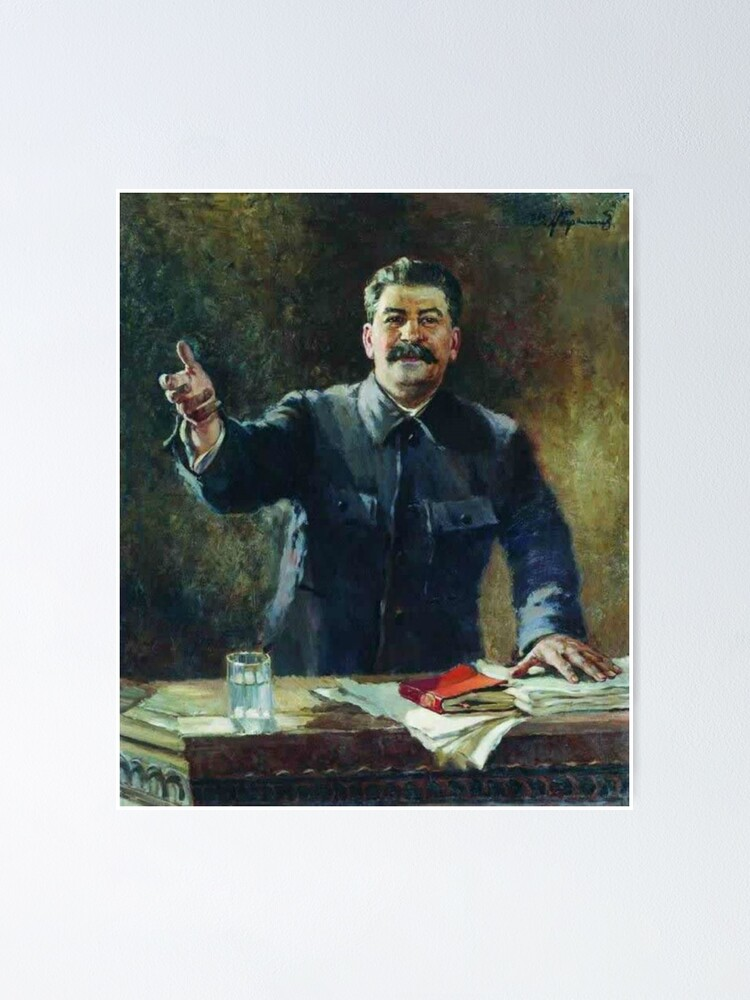 Alternate view of Художник Александр Герасимов Aleksandr Mikhaylovich Gerasimov was a leading proponent of Socialist Realism in the visual arts, and painted Joseph Stalin and other Soviet leaders. Poster