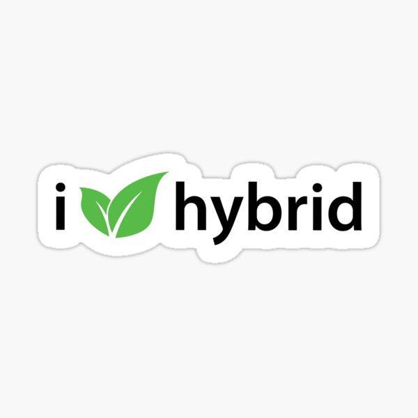 J'aime la voiture verte hybride Sticker