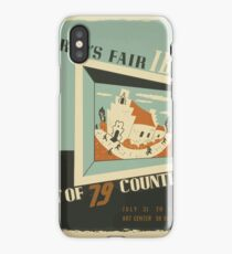 WPA United States Government Work Project Administration Poster 0742 World's Fair IBM Show iPhone Case