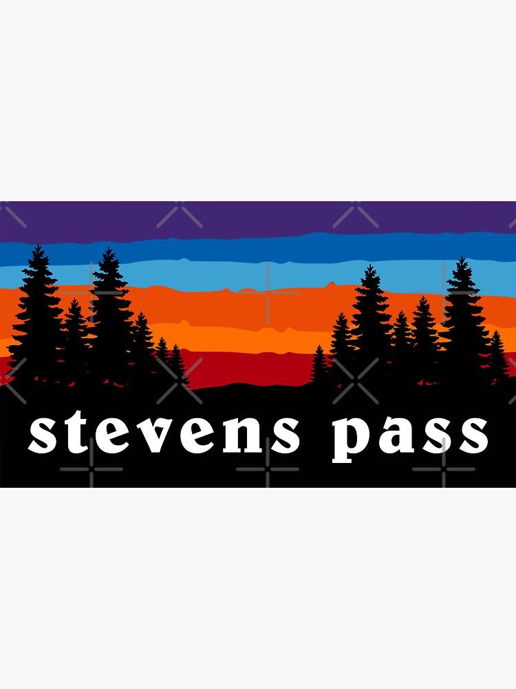 Stevens Pass Washington Forest Ski Snowboard Camping Mt. Rainier Hiking Mountain Sunset Gift Ideas by letourneau41