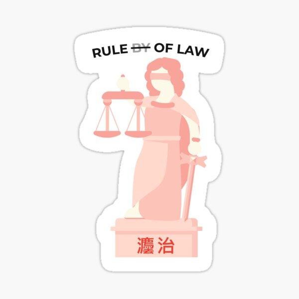 Rule of Law Sticker
