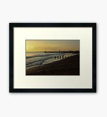 Portslade Basin Beach Framed Print