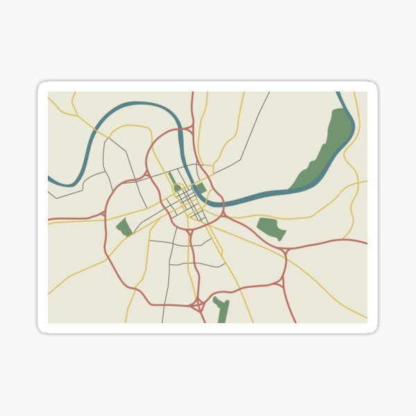 Nashville Illustrated Map Sticker