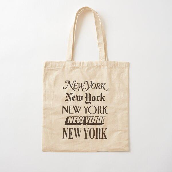 New York New York Cotton Tote Bag