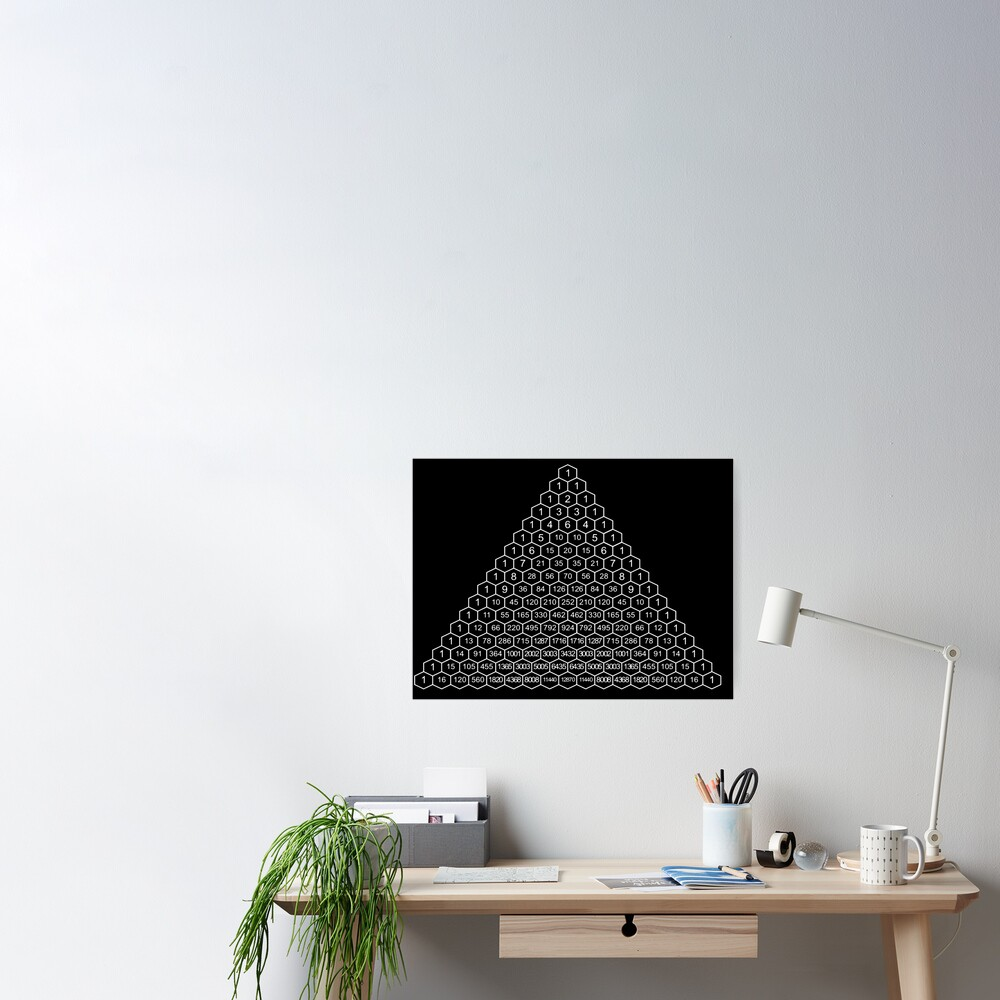Pascal's Triangle is a triangular array of the binomial coefficients Poster