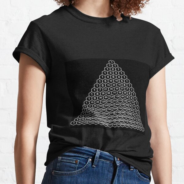 Pascal's Triangle is a triangular array of the binomial coefficients Classic T-Shirt