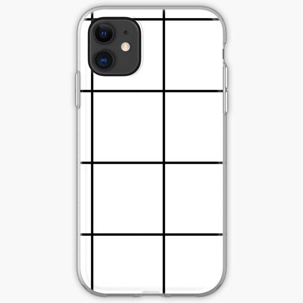 Stadtplan Grid - Weiß / Schwarz iPhone Flexible Hülle