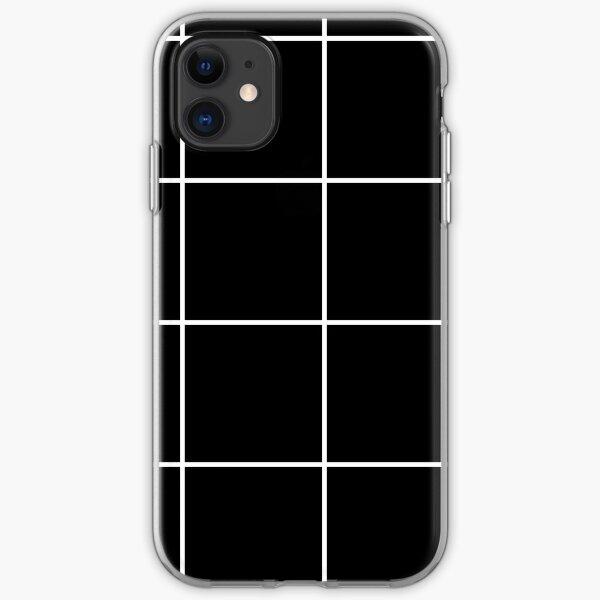 Citymap Grid - Schwarz / Weiß iPhone Flexible Hülle