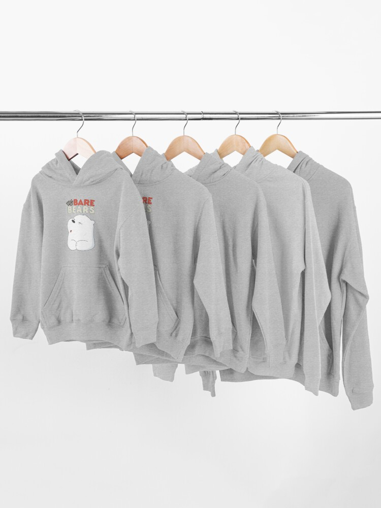 Alternate view of We Bare Bears - Ice Bear  Kids Pullover Hoodie
