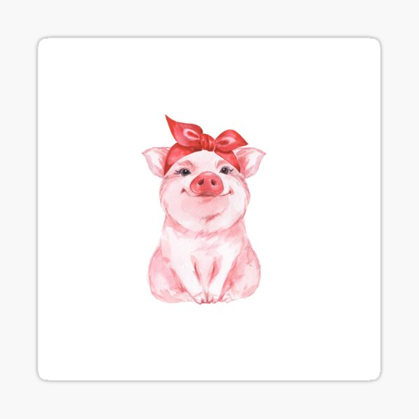 Piggy in red Sticker