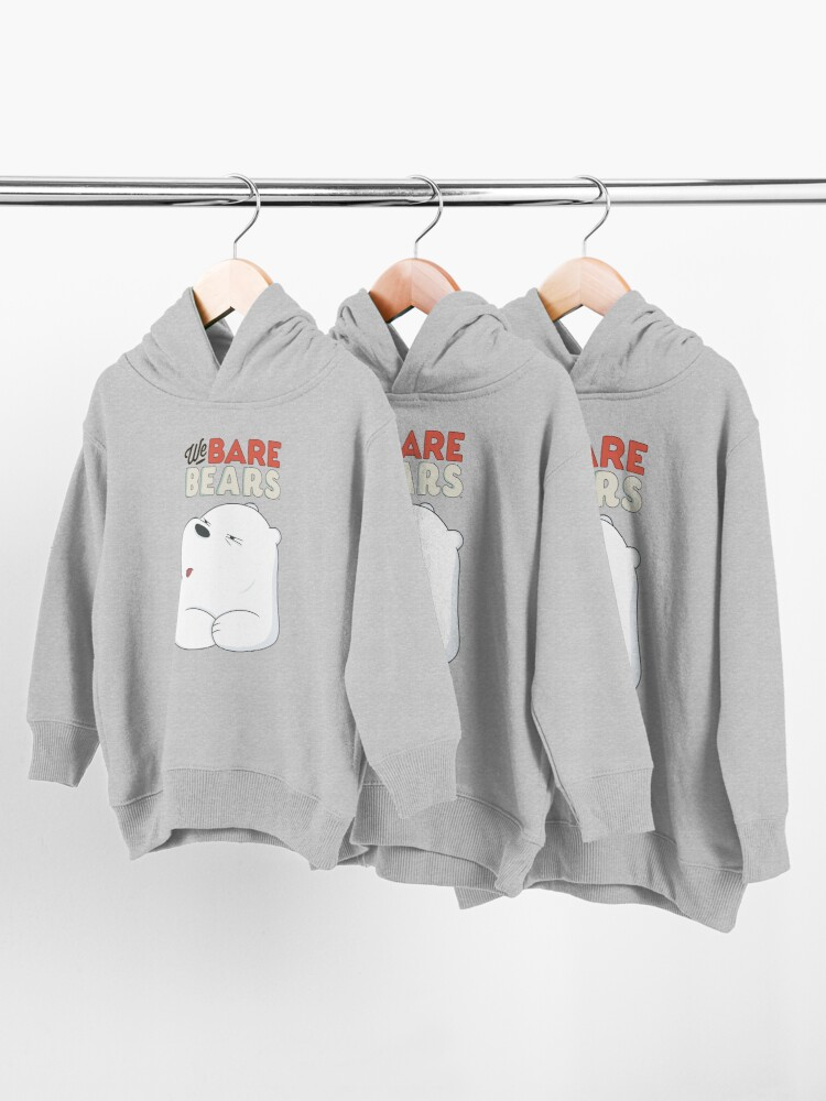 Alternate view of We Bare Bears - Ice Bear  Toddler Pullover Hoodie