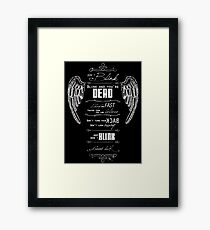 Don't blink. - White Framed Print